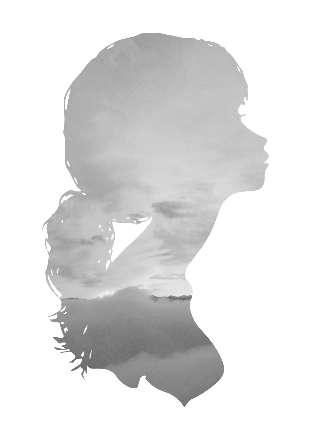 girl's head silhouette